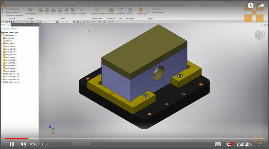 Videos zum MuM Multitool for Inventor